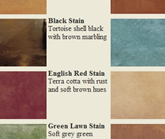 Acid stained concrete color charts