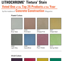 Interior floors concrete color chart