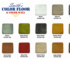 Colored concrete chart thumbnails