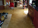 Acid stain residential concrete floor