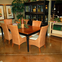 Brown residential concrete floor