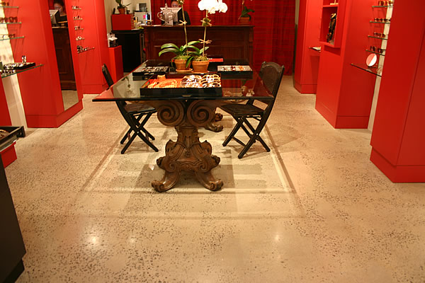 The Concrete Impressionist Dark Grey Dining Room Concrete Floor