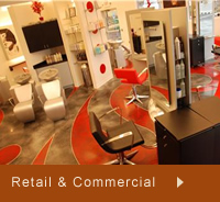 Photos of commercial and retail concrete floors