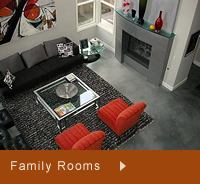 Photos of family room concrete floors
