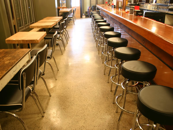 Restaurant Floor Pictures- Photos and Ideas for Decorating Concrete ...