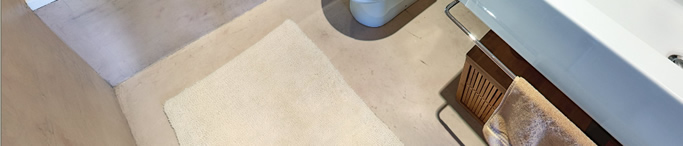 Bathroom Concrete Floor