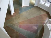 Multi colored polished concrete floor